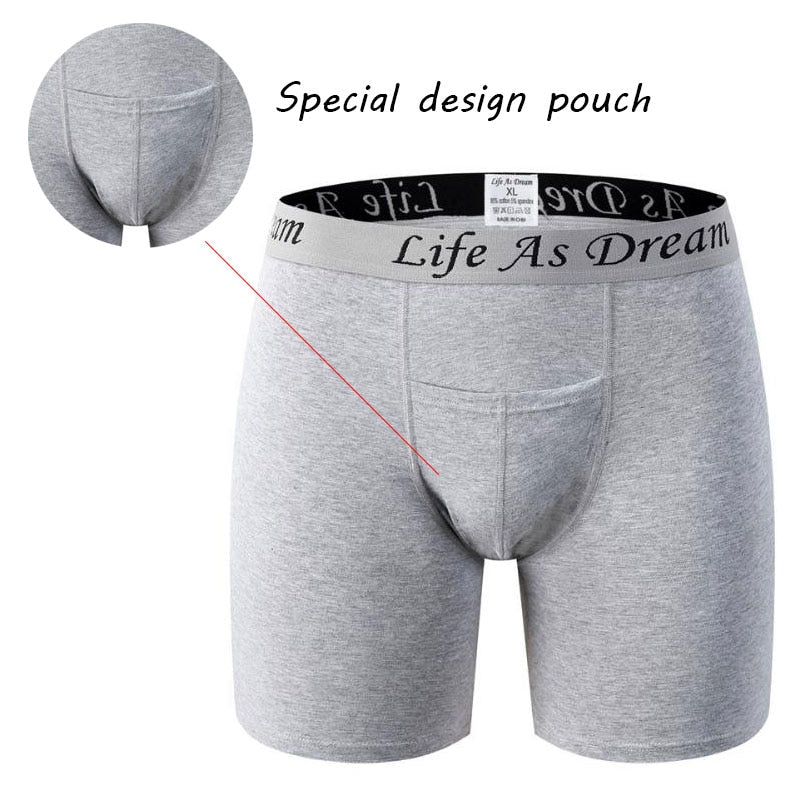 Sexy Men cotton soft Men Underwear long leg boxershort Scrotum Care Capsule Function Youth Health Seoul convex separation Boxer
