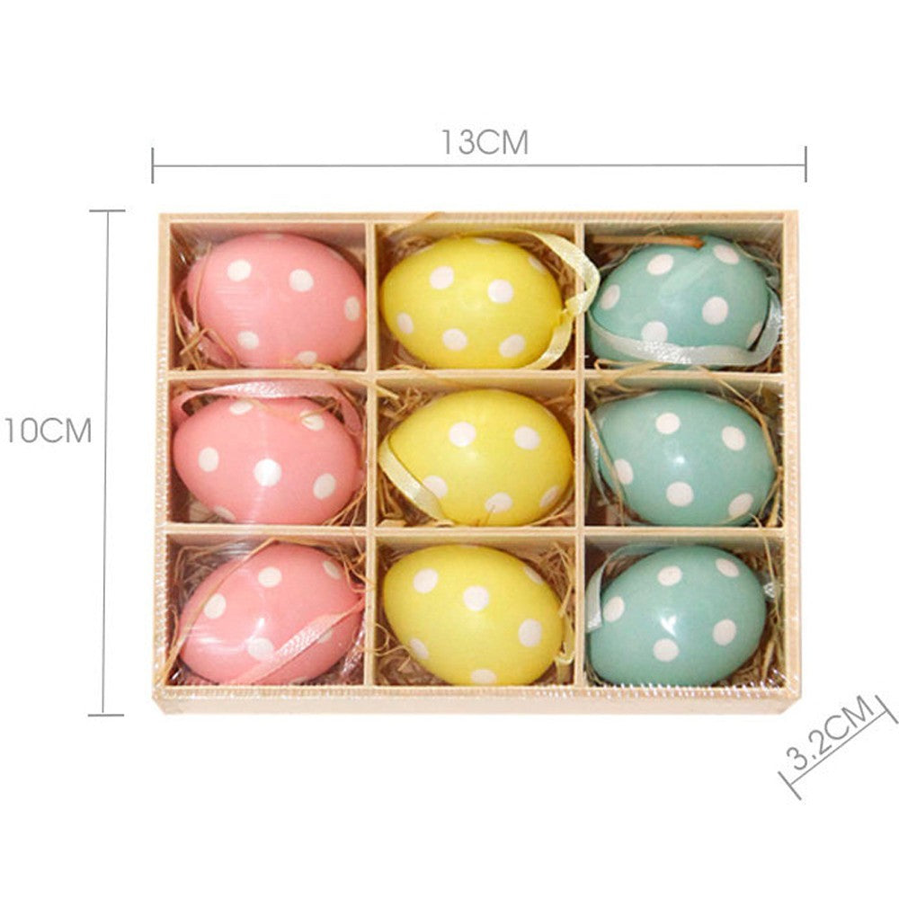 9pc Colorful Baby Kid Drawing Painting Easter Eggs Color Egg Birthday Gift