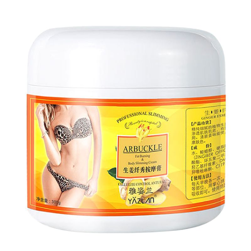 300g Massage Body Toning Slimming Gel Loss Weight Shaping Detox Burning Fat Ginger Cream Health Care Muscle Relaxation Therapy