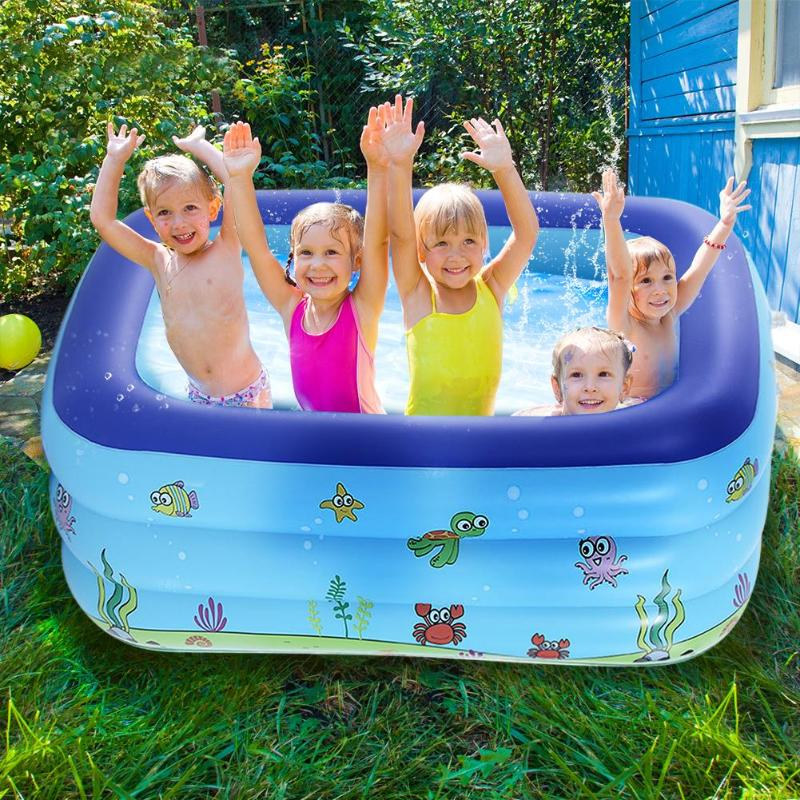 Inflatable Baby Bath Swim Tubs Newborn Thickening Children Cartoon Portable Bathtub Bucket Safety Swimming Pool