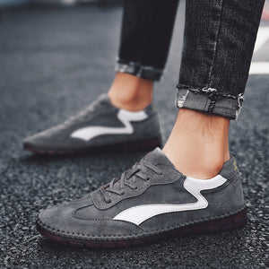 Fashion Sneakers Cool Street Shoes Men Genuine Leather Casual Shoes Man Shoes Brand Flat Footwear A529