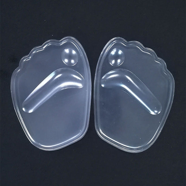 1 Pair Women Soft Silicone heel Inserts Gel Adhesive Arch Support Heel Protector Insoles High Heel Insert Cushion Shoes Pads