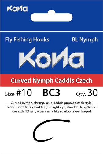 Barbless Curved Nymph Caddis Czech (BC3)