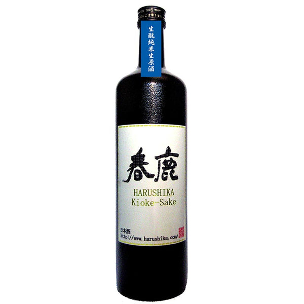 Harushika | Junmai Tsuyubakaze-rice with traditonal fermentation starter Nama-genshu (unpasteurized undiluted sake) stored with casks 720ml