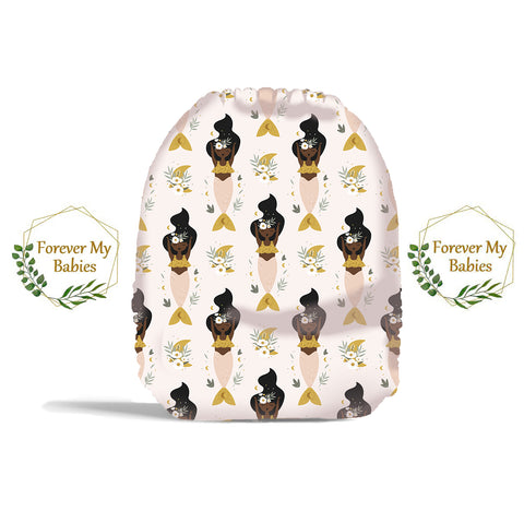 PRE-ORDER Forever My Babies Cloth Diaper - Black Girl Magic Mermaid (Single Gussets) - ETA Aug 2021