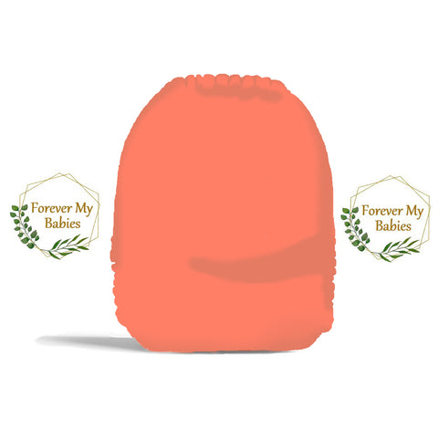 PRE-ORDER Forever My Babies Cloth Diaper - Summer Solids: Coral (Single Gussets) - ETA July 2021