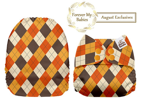 Mama Koala Cloth Diaper - Argyle Exclusive IN STOCK