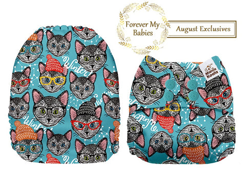 Mama Koala Cloth Diaper - Cats Exclusive (Upright Bum) IN STOCK