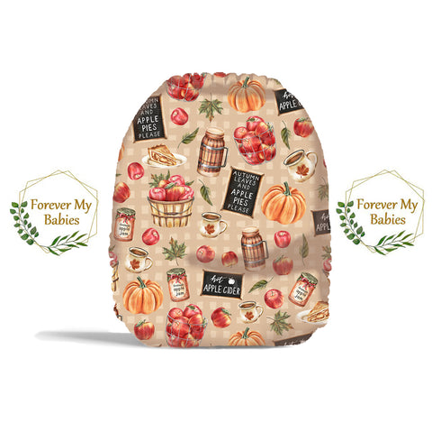 PRE-ORDER Forever My Babies Cloth Diaper - Fall Apple Harvest (Single Gussets) - ETA Aug 2021