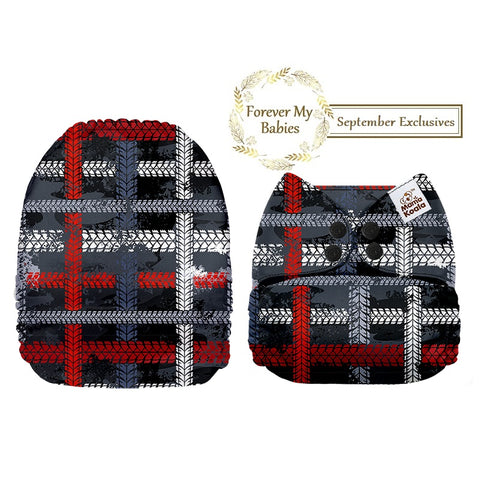 Mama Koala Cloth Diaper - Tire Track Plaid Exclusive - IN STOCK