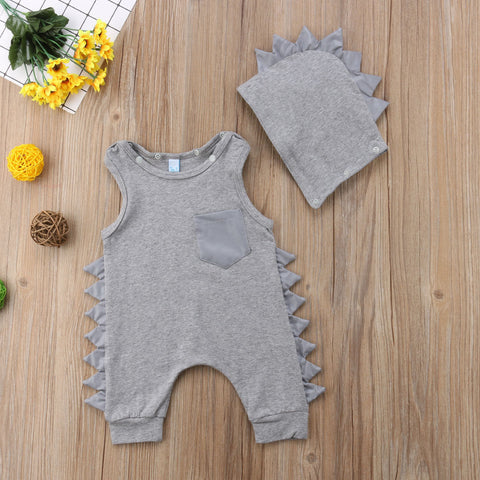 Raptor Spikes Hooded Jumpsuit