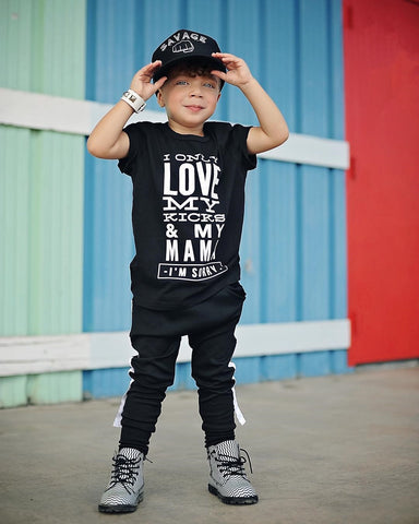 T-Shirt n' Pants Set: I Only Love My Kicks And My Mama
