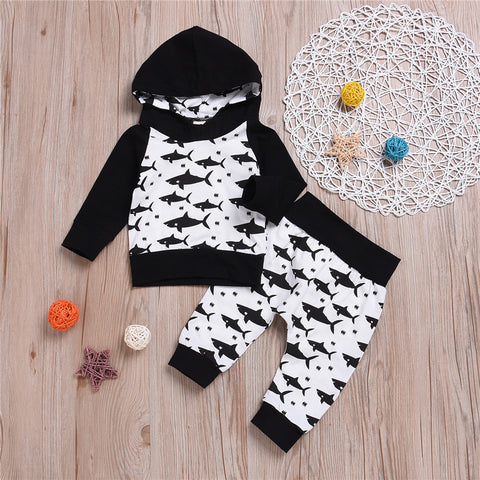 Mark the Shark 2pc Hoodie Set