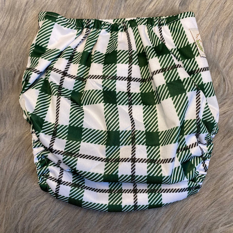 IN-STOCK Forever My Babies Cloth Diaper - Green Plaid