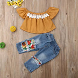 Sunflower Ripped Jeggings 2pc Set