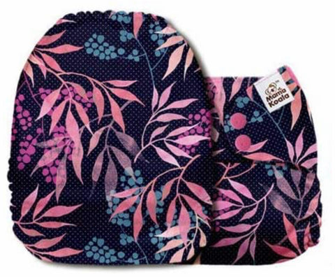 Mama Koala Cloth Diaper - Blossom Glory Tropic Leaves & Berries - IN STOCK