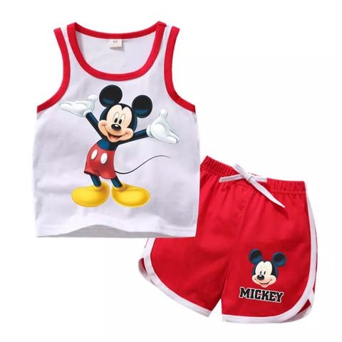 Mickey Mouse Tank Shirt & Shorts 2pc Set