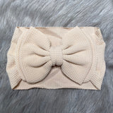 IN-STOCK Large Headband Bow in Stretchy Waffle Fabric