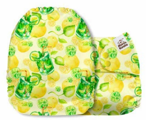 Mama Koala Cloth Diaper - Fruit & Tacos Lemons - IN STOCK