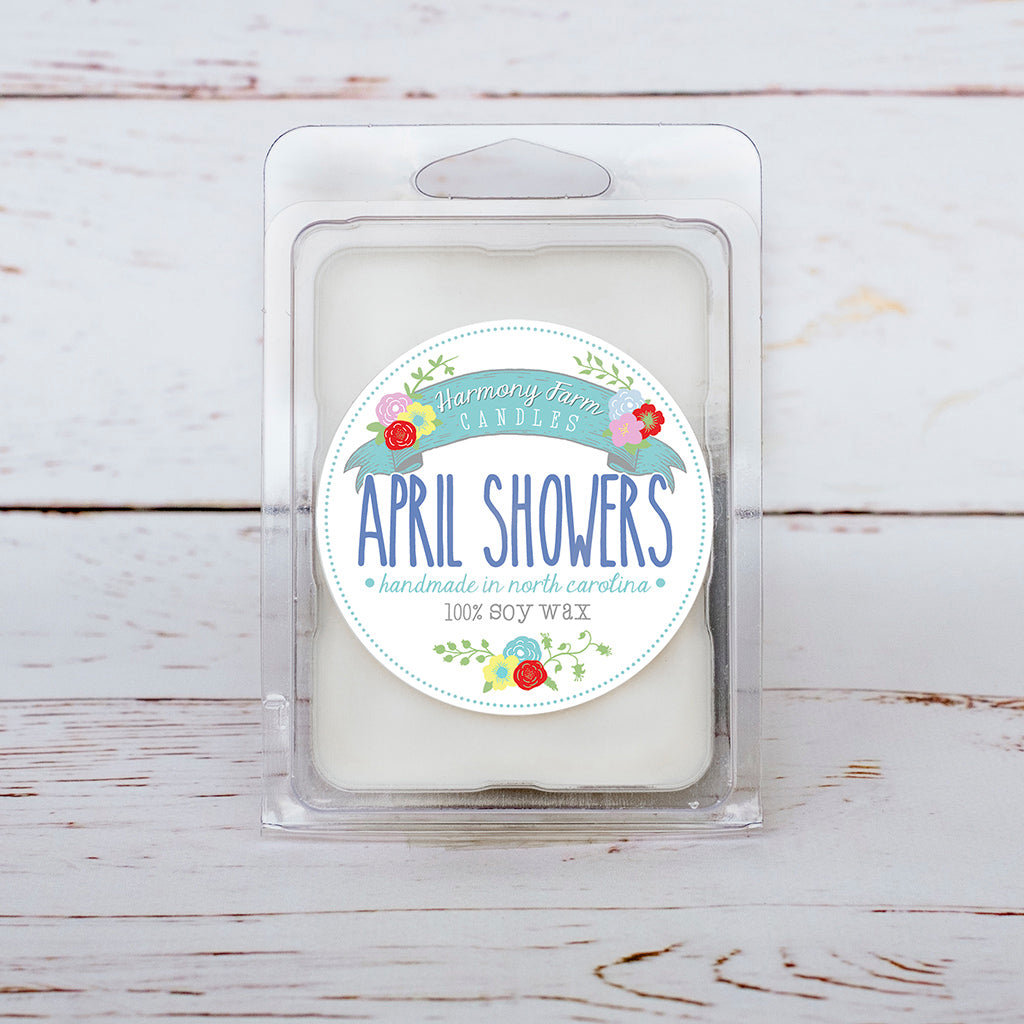 April Showers Soy Wax Melts in Clamshell