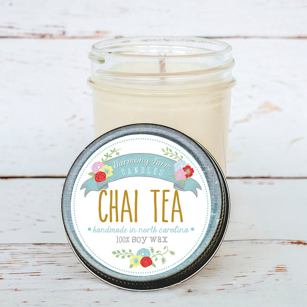 Chai Tea Soy Wax Candle in Jelly Jar