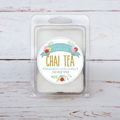 Chai Tea Soy Wax Melts in Clamshell