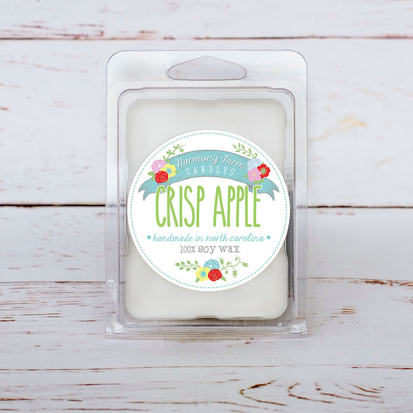 Crisp Apple Soy Wax Melts in Clamshell