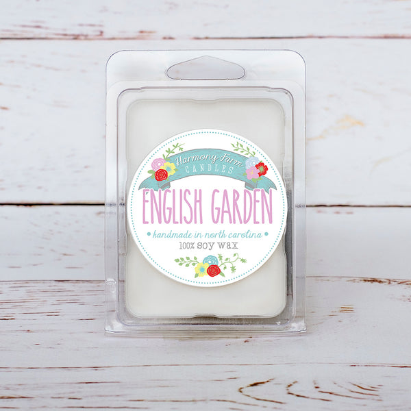 English Garden Soy Wax Melts in Clamshell