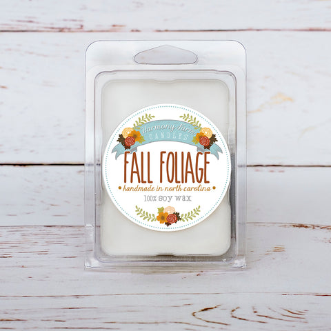 Fall Foliage Soy Wax Melts in Clamshell