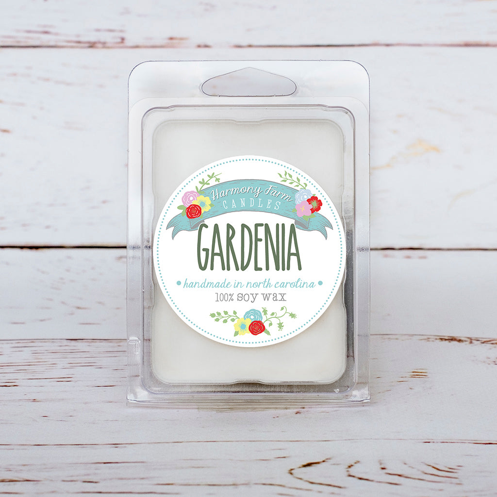 Gardenia Soy Wax Melts in Clamshell