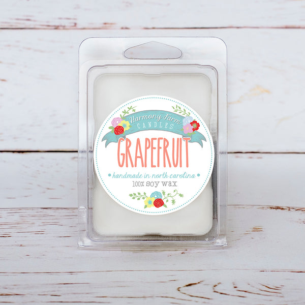 Grapefruit Soy Wax Melts in Clamshell