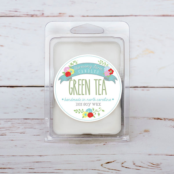 Green Tea Soy Wax Melts in Clamshell