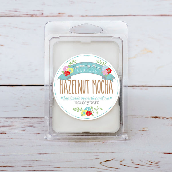 Hazelnut Mocha Soy Wax Melts in Clamshell