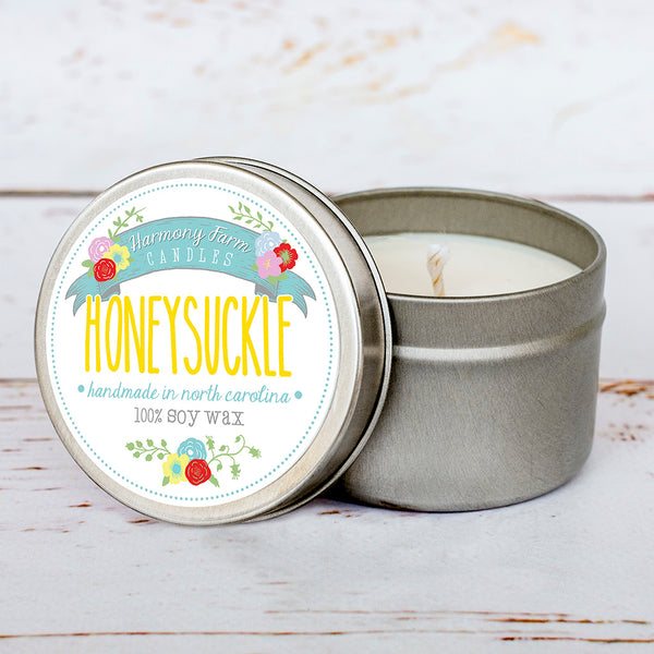 Honeysuckle Soy Wax Candle in Travel Tin