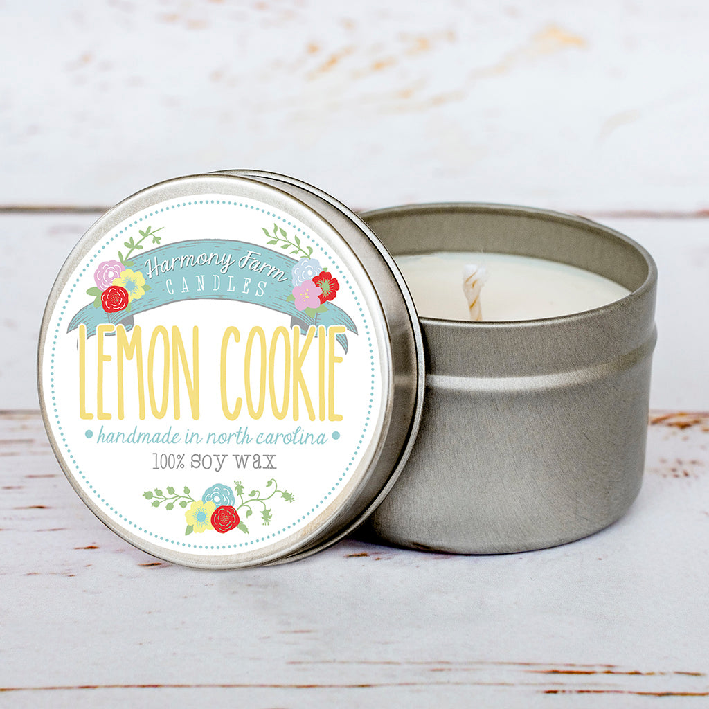 Lemon Cookie Soy Wax Candle in Travel Tin