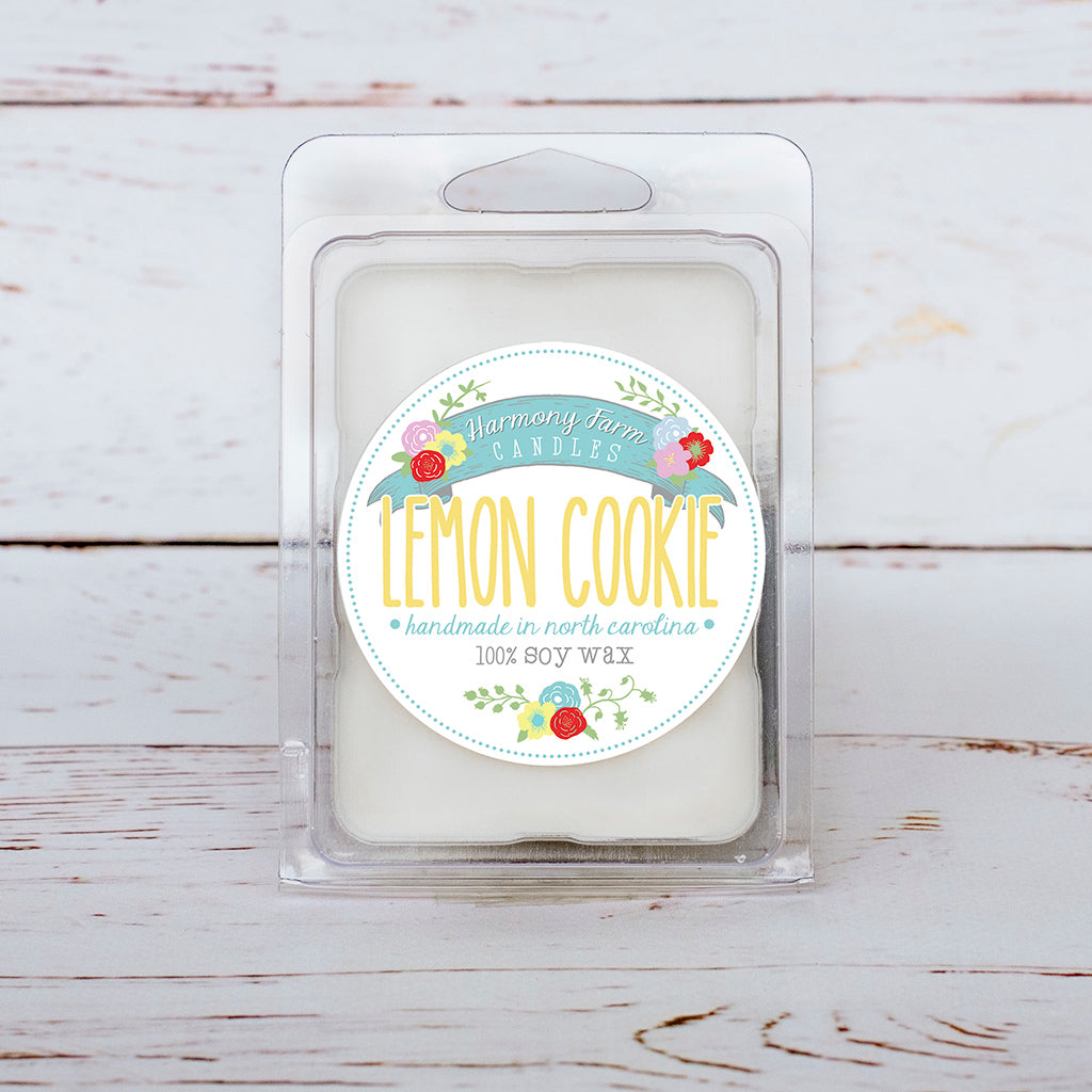 Lemon Cookie Soy Wax Melts in Clamshell