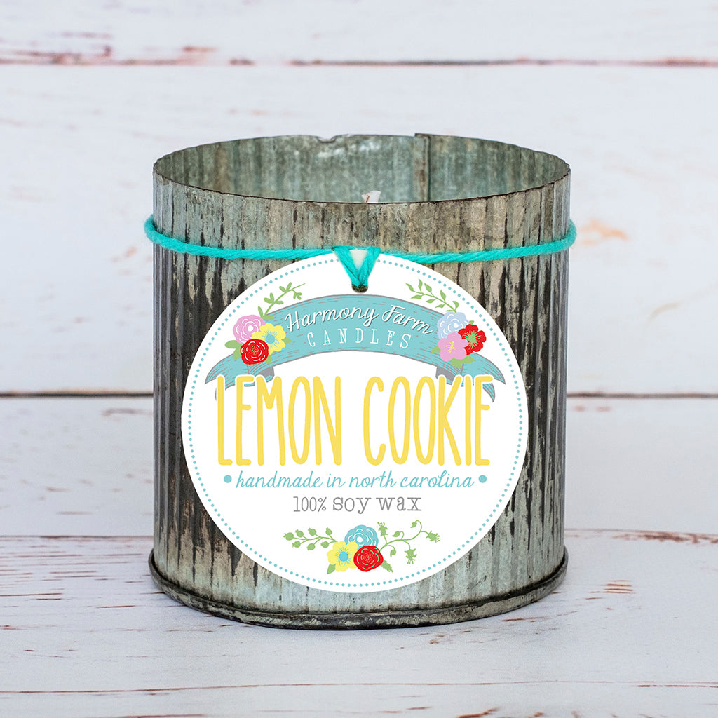 Lemon Cookie Soy Wax Candle in Zinc Jar