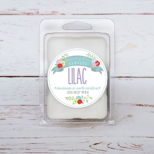 Lilac Soy Wax Melts in Clamshell