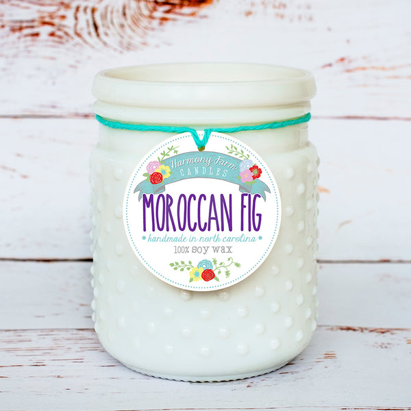 Moroccan Fig Soy Wax Candle in Milkglass Jar