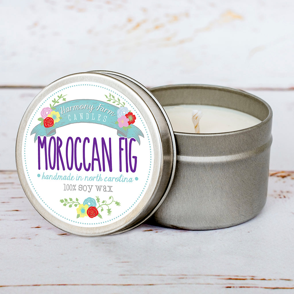 Moroccan Fig Soy Wax Candle in Travel Tin