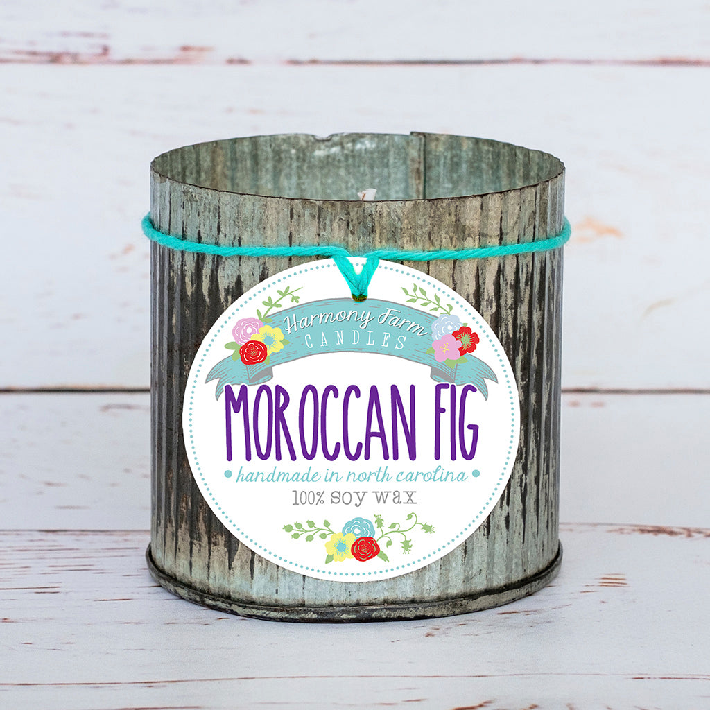 Moroccan Fig Soy Wax Candle in Zinc Jar