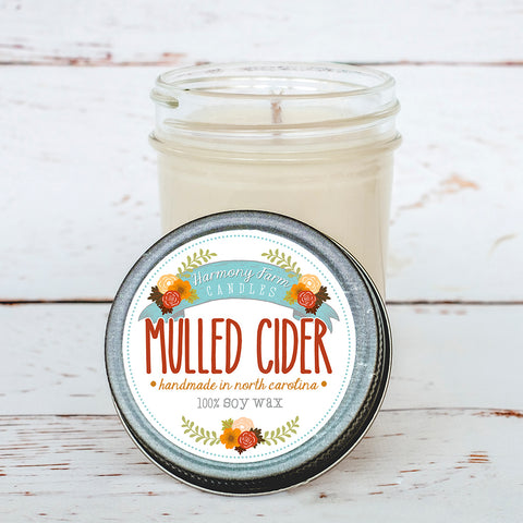 Mulled Cider Soy Wax Candle in Jelly Jar