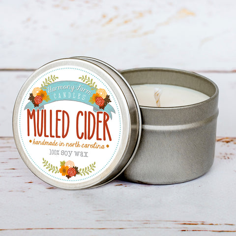Mulled Cider Soy Wax Candle in Travel Tin