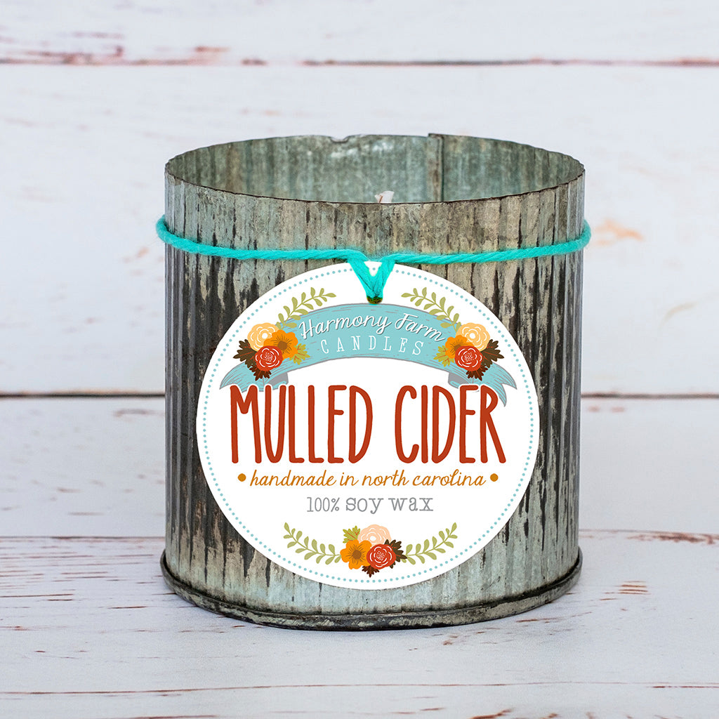 Mulled Cider Soy Wax Candle in Zinc Jar