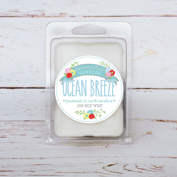 Ocean Breeze Soy Wax Melts in Clamshell