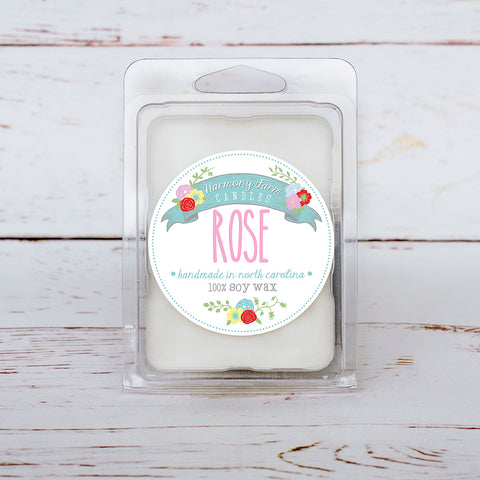 Rose Soy Wax Melts in Clamshell