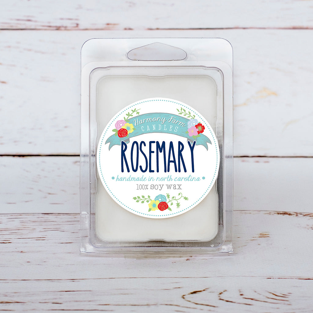 Rosemary (Discontinued Version) Soy Wax Melts in Clamshell