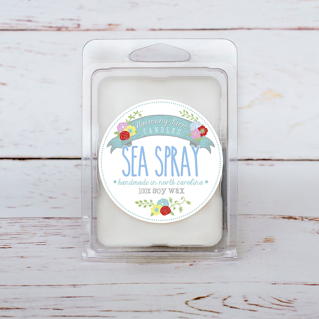 Sea Spray Soy Wax Melts in Clamshell