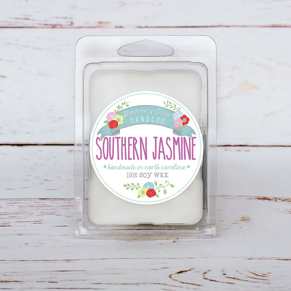 Southern Jasmine Soy Wax Melts in Clamshell