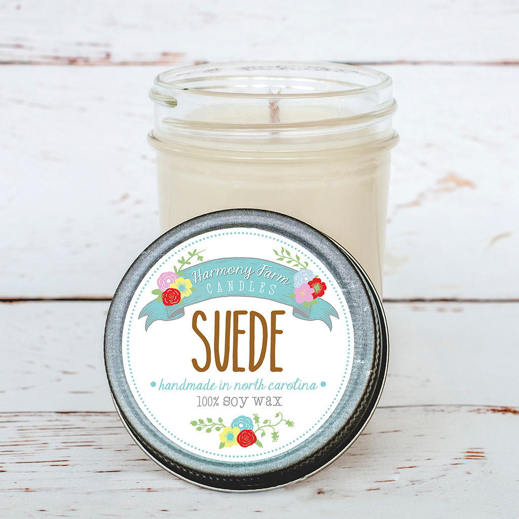Suede Soy Wax Candle in Jelly Jar